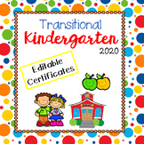 UPDATED for 2019 - Transitional Kindergarten TK End of Year Certificates
