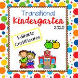 Transitional Kindergarten TK End of Year Certificates