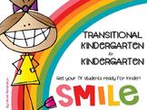 Transitional Kindergarten to Kindergarten~Summer Prep Pack