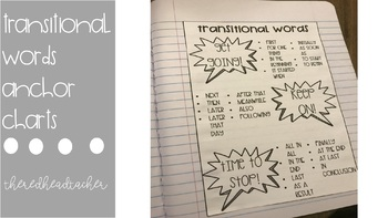 Transitional Words Anchor Charts