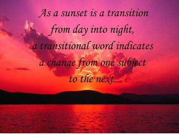 Transitional Words Lesson Plan