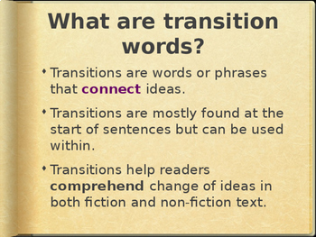 Transitional Words-Linking Words