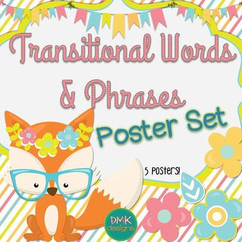 Transitional Words & Phrases Poster Set