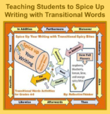 Transitional Words:  Spice Up Writing with Common Core Aligned Activities