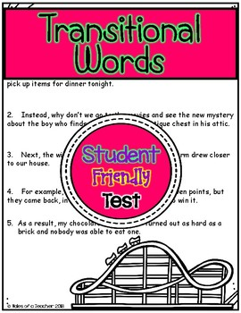 Transitional Words Test