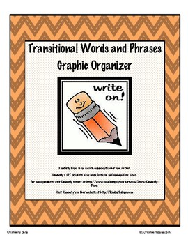 Transitional Words and Phrases Graphic Organizer