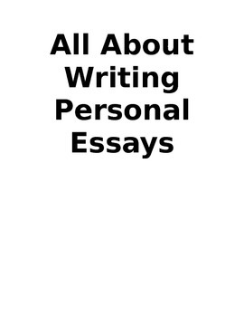 All About Writing Personal Essays