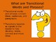 Transitional Words and Phrases PTA Skills Bundle