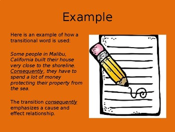 Transitional Words and Phrases PowerPoint