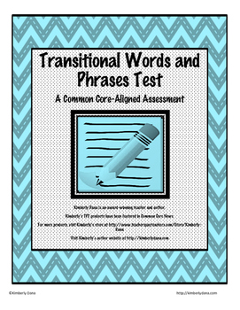 Transitional Words and Phrases Test
