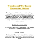 Transitional Words and Phrases for Writers