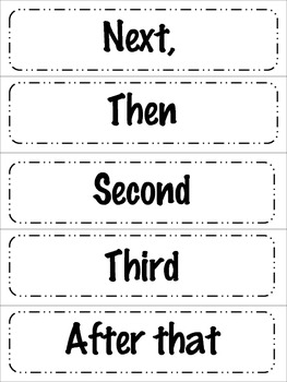 Transitional Words for Writing
