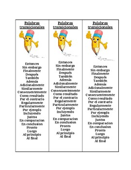 Transitional/temporal words in Spanish