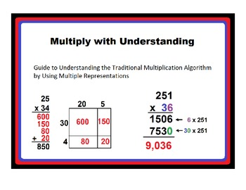 Transitioning From Area Model to Traditional Multiplicatio