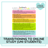 Transitioning to Online Study   A 1-Page Guide for Univers