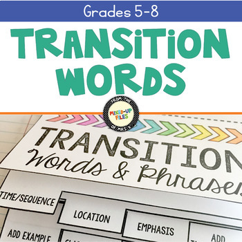 Transition Words Flipbook