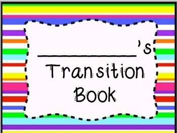 Transitions Book for Simple Everyday Classroom Transitions