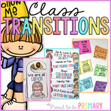 Classroom Transitions Pack - Call Backs, Door Hangers & Line Up Chants
