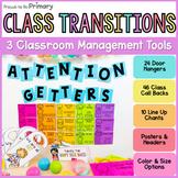 Classroom Transitions Pack - Call Backs, Door Hangers & Li
