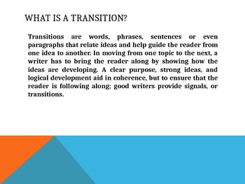 Transitions PPT