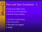 Transitions - Place and Time