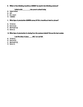 Transitions Quiz