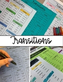 Transitions Reference Sheet & Activity