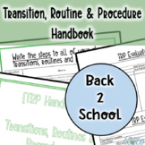 Transitions, Routines, and Procedures planning Handbook
