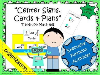 Center Signs, Cards, and Plans - Transition Materials