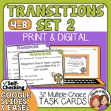 Transitions Task Cards: Transition Words and Phrases Sentence Cards