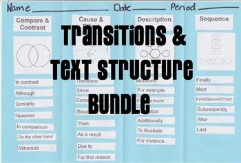 Transitions & Text Structures Bundle