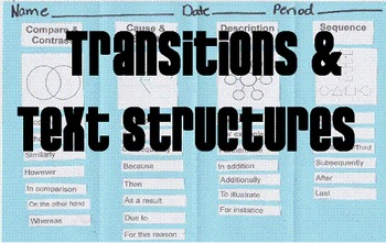Transitions & Text Structures Foldable