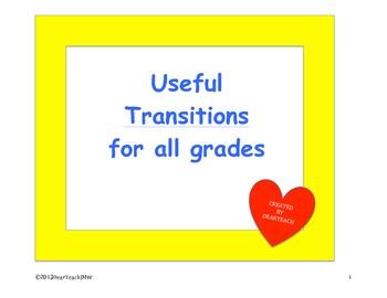 Transitions! Transitions!