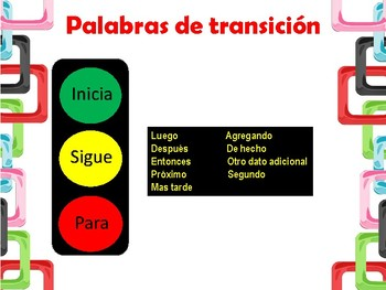 Transitions Words in Spanish_Traffic Light