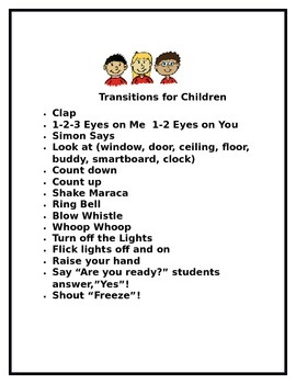Transitions for Children