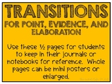 Transitions for PEEL Paragraphs