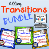 Adding Transition Words: Google Classroom Activity Bundle