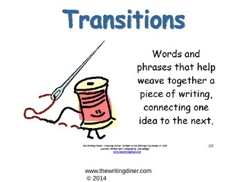 Transitions from The Writing Diner