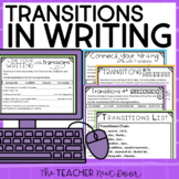 Transitions in Writing: Print and Digital for Google Slides™ | Distance Learning