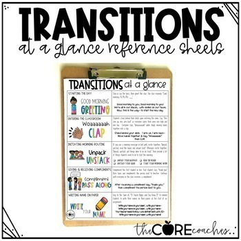 Transitions - smoothy shift students from one activity to another (Editable)
