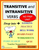 TRANSITIVE and INTRANSITIVE VERBS No-prep Grammar Unit