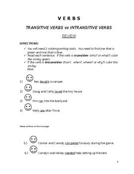 Transitive & Intrasitive Verbs