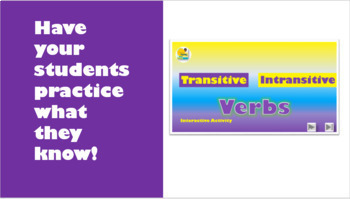 Transitive and Intransitive Verb Bundle