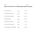Translate Algebraic Expressions