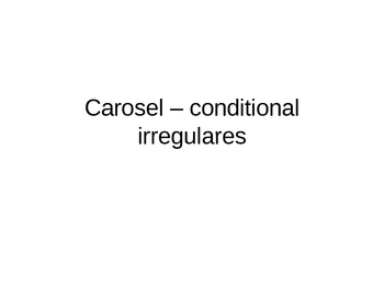 Translate Conditional Irregulares
