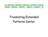 Translate Extended Patterns Center