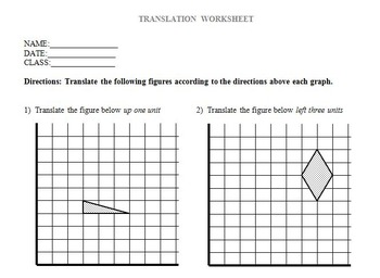 Translate Rotate Reflect - Transformation Lesson