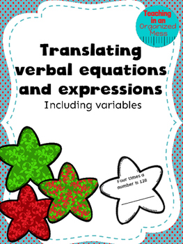 Translate Verbal Expressions and Equations