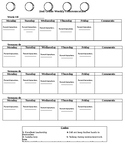 Translated (English/Spanish) Primary Weekly/Monthly Parent