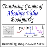 Graphing Absolute Value Bookmark Review Activity/Project